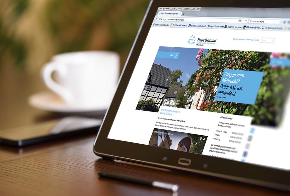 ein Beispiel für Webdesign